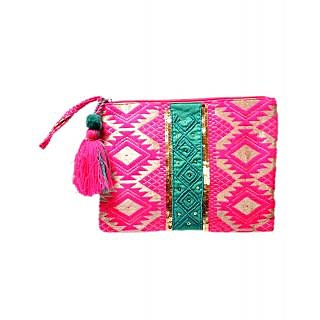 Diwaah Hand Crafted  Multi Color Tessel Pouch DWH000000422
