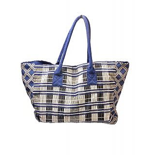 Diwaah Hand Crafted Blue Utility Tote Bag DWH000000426
