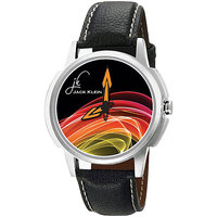 Jack Klein Stylish Graphic-1202 Leather Analog Watch For Men, Women