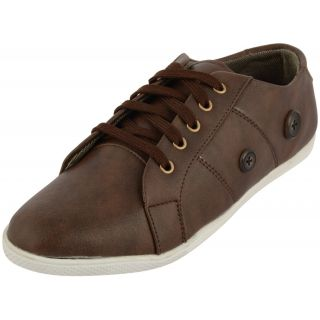 LAVISTA Mens Brown Synthetic Leather Sneakers Shoes