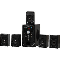 Flow 5.1 Speaker System with Bluetooth,FM,Pen Drive Adjustable Bass  Trebble Model E8080