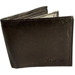 GoShamoy Black Leather Wallet With Card Holding Option