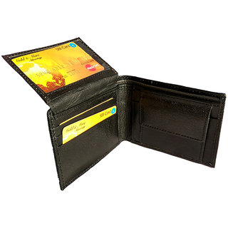GoShamoy Black Leather Wallet With Card Holder Up Lift Option Luxury designed