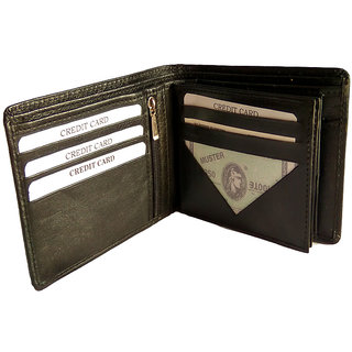 GoShamoy Black Leather Wallet With Card Holder Option Luxury Brand Perfectly Desinged