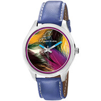 Jack Klein 1206 Graphic Blue Strap Casual Anlong Watch For Men ,Women