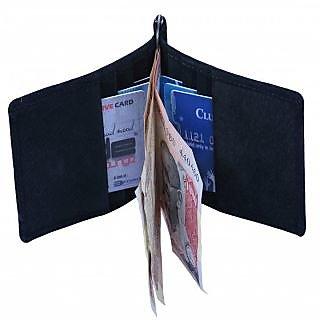Leather Credit/Debit/ATM Card Case  Money Clip Holder Black