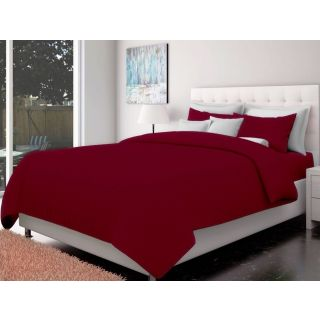 Just Linen 200 TC Cotton Sateen Maroon Colored Striped King Size Ac Comforter
