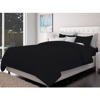 Just Linen 200 TC Cotton Sateen Black Colored Striped King Size Ac Comforter