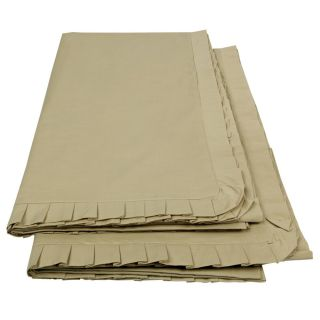 Just Linen 200 TC 100 Cotton Percale Pair of Stone Colour Single Dohar With Frills