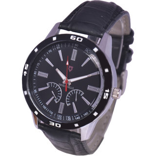 Svviss Bells Stylish Black Dial Black Bezel Watch