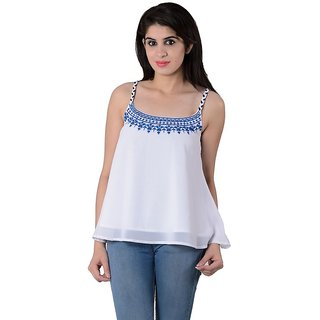 House of tantrums cool party wear white top