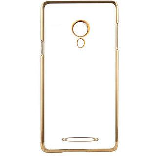 MuditMobi Stylish MeePhone Soft Silcon Back Cover For- Micromax Juice 2 AQ5001- Transparent-Gold