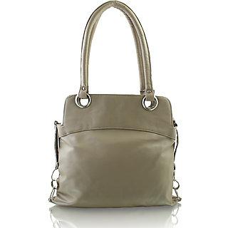 Grey PU Casual Plain Handbag ssclem69