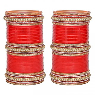 Red Bridal Punjabi Choora Wedding Chura