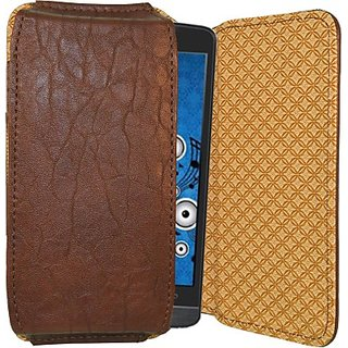 Totta Pouch for Spice Smart Flo Pace 2 Mi502 (Brown)