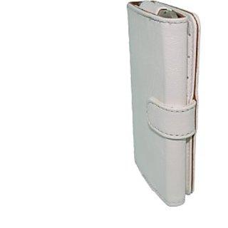 Totta Wallet Case Cover for Alcatel Fire E (White)