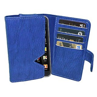 Totta Wallet Case Cover for iBall Andi 4.5d Quadro (Blue)