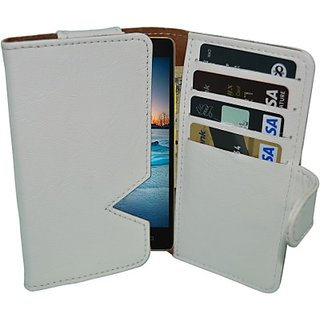 Totta Wallet Case Cover for Lenovo A859 (White)
