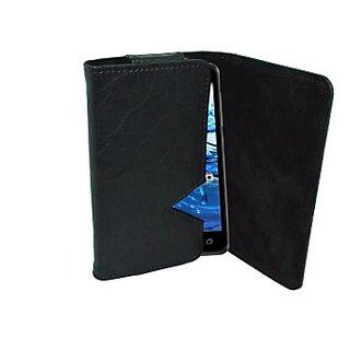 Totta Wallet Case Cover for Onida I505 (Black)