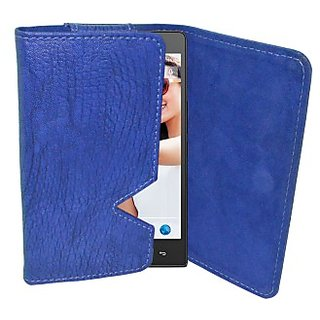 Totta Wallet Case Cover for Xolo X910 (Blue)