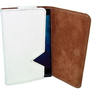 Totta Wallet Case Cover for Zen Ultrafone Amaze 701 FHD (White)