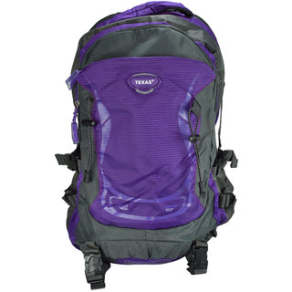 Texas USA Exclusive Imported Purple Trekking BagPack TXtrek22651purple TXtrek22651purple