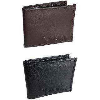 Elligator Stylish SD Balck Brown Wallet Combo For Men