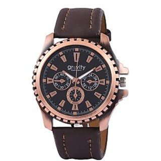 Gravity Winsome Men Black Casual Watches-10