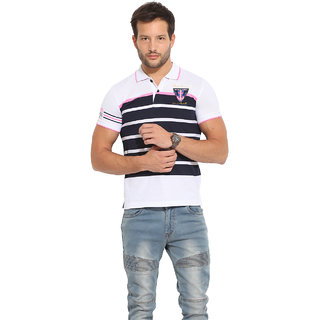 Duke Duke Stardust White Cotton Blend T-Shirt For Men