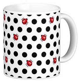 Giftcart -Polka Dots  Beetles Mug