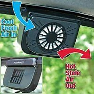 Bluebells India Solar Powered Auto Cool Car Window Fan Air ventilation Heat Exhaust system