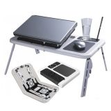Special Offer Portable Laptop Stand Foldable E Table With 2 Usb Cooling Fans