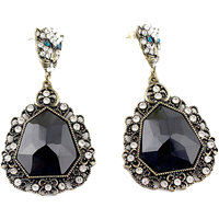 Fayon Contemporary Statement Antique Mini Leopard Crystal Drop Earring