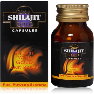 Dabur Shilajit Gold Capsules Pack of 20 Capsules  Concealed Shipping  available at ShopClues for Rs.315
