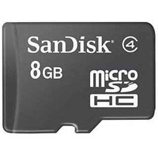 SanDisk Basic 8   GB MicroSDHC Class 4 20 MBs Memory Card available at ShopClues for Rs.250