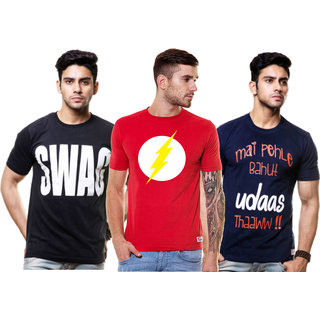 6d5fac36f Pack of 3 Premium Cotton Printed T Shirts by Enquotism available at  ShopClues for Rs.