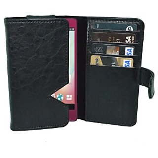 Totta Wallet Case Cover for Lenovo Vibe S1         (Black)