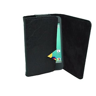 Totta Wallet Case Cover for Spice Stellar Glamour Mi436         (Black)