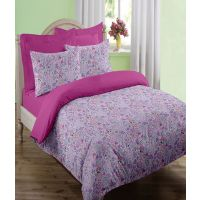 Swaas Livia Pink - Single Bed Sheet Set With One Pillow Cover