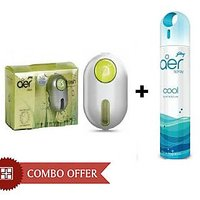 Combo Of Godrej Car Ac Vent Perfume + Godrej Air Spray