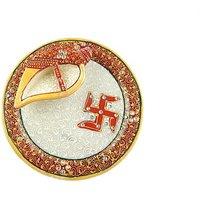 Vijaya Pooja Samagri Pooja  Thali Set(1 Pieces, Multicolor)
