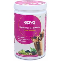 OZiva Nutritional Meal Shake For Fat Loss, Women-500 Gm (Chocolate)