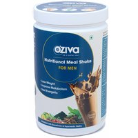 OZiva Nutritional Meal Shake For Fat Loss, Men-500 Gm (Chocolate)