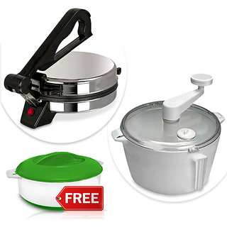 Coloured Roti and Khakra Maker  Atta Maker with Free Casserole available at ShopClues for Rs.1600