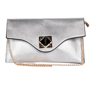 TrendBerry Silver Sling Bag TBSB(S)012: Buy TrendBerry Silver ...
