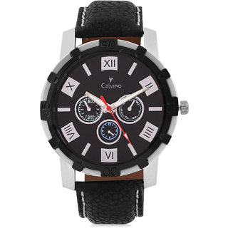 Calvino Mens Black Dial Watch CGAS1621132RMNBlackBlack