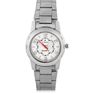 Calvino Womens White Dial Watch CLAC-160256LSilverWhite