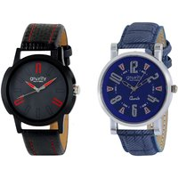 Gravity Trendy Black  Blue Mens Casual Analog Watches-01