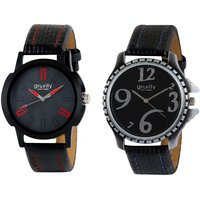 Gravity Royal Black Mens Casual Analog Watches -02