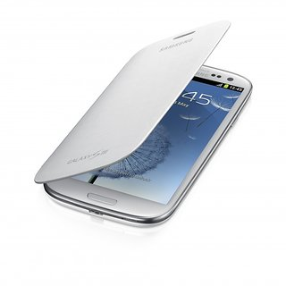 MJR Flip Cover Battery Replaceable Case for Samsung Galaxy S3 White  35 mm AUX Cable FREE available at ShopClues for Rs.195
